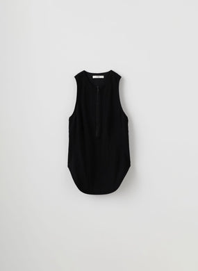 Zip Tank Top - Black