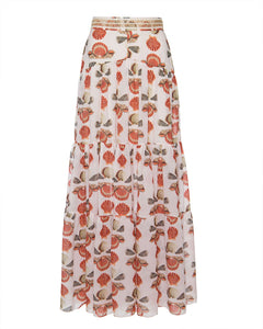 Seashell Maxi Skirt - Cream