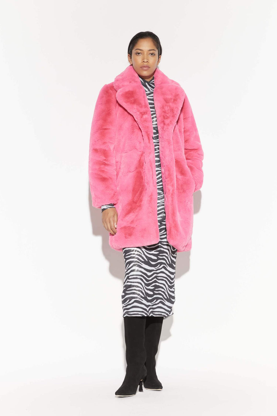 Sasha Coat - Bubble Pink