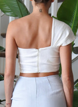 Load image into Gallery viewer, Sol One Shoulder Bandeau Top - Ecru