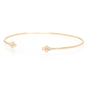 14K Diamond Quad Open Cuff