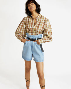 Marcelle Blouse - Plaid