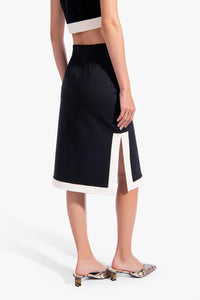 Yang Skirt - Black/White