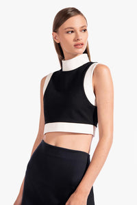 Yin Top - Black/White