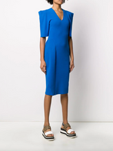 Load image into Gallery viewer, V-neck Knit Dress - Blue