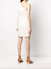 Load image into Gallery viewer, Dianna One-Shoulder Mini Dress - White