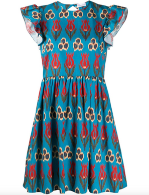 Tulip Mini Dress - Blue