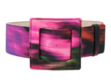 Load image into Gallery viewer, Oversized Square Buckle Belt - Black Multi