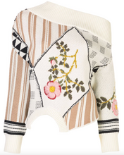 Load image into Gallery viewer, Off-Shoulder Jumper - Floral Intarsia