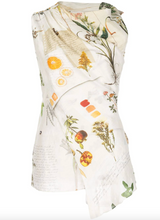 Load image into Gallery viewer, Botanical Draped Top - Natural Multi