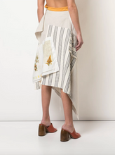 Load image into Gallery viewer, Patchwork Asymmetrical Skirt - Natural Multi