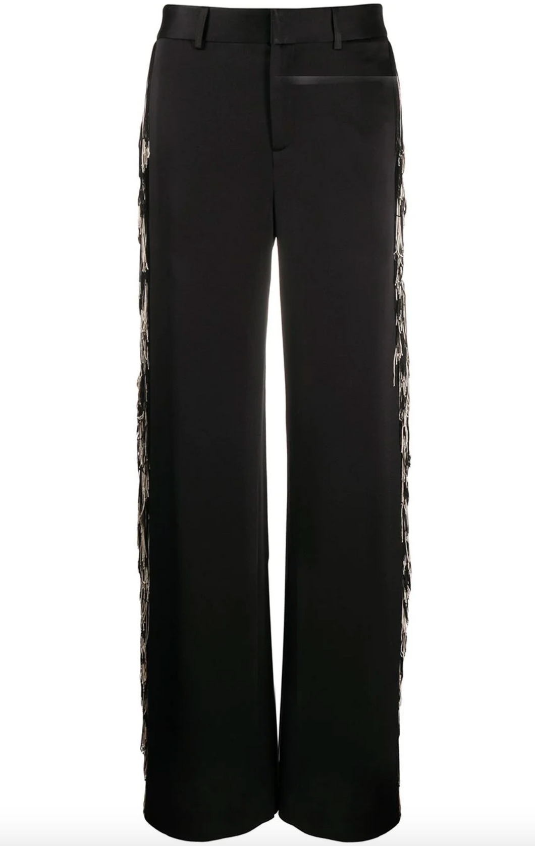Fringed Trousers - Black/Cream