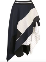 Load image into Gallery viewer, Deconstructed Jacket Skirt - Navy/Black
