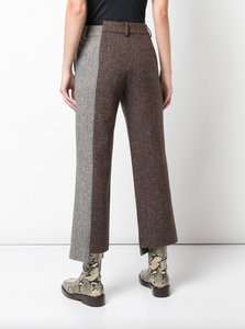 Deconstructed Two-tone Trousers - Camel