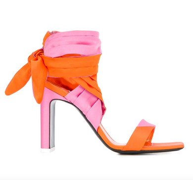 Lace Up Sandal - Orange/Pink