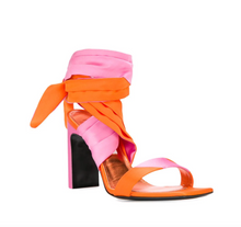 Load image into Gallery viewer, Lace Up Sandal - Orange/Pink