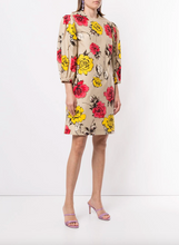 Load image into Gallery viewer, Rose Print Dress - Tan