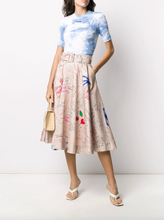 Load image into Gallery viewer, Doodle Print Skirt - Sand