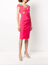 Load image into Gallery viewer, Floral Embellished Dress - Fuchsia