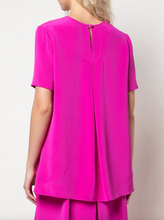 Load image into Gallery viewer, Pleat Back Short Sleeve Top - Hot Pink