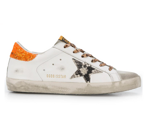 Superstar Sneaker - White/Orange/Cheetah