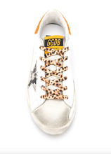 Load image into Gallery viewer, Superstar Sneaker - White/Orange/Cheetah