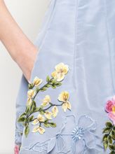 Load image into Gallery viewer, Floral Embroidered Dress - Cornflower Blue