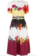 Load image into Gallery viewer, Paneled Belted Dress - Ivory Multi