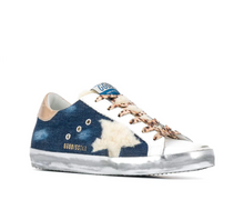 Load image into Gallery viewer, Superstar Sneaker - Blue/Gold/Shearling