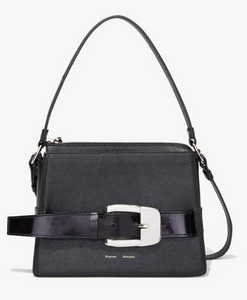 Large Buckle Zip Bag - Black