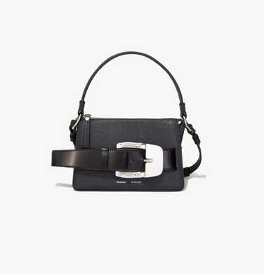 Small Buckle Zip Bag - Black