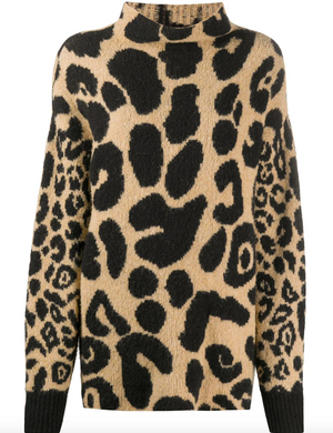 Oversized Jumper - Leopard