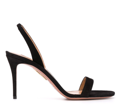 So Nude Suede Sandal 85mm - Black