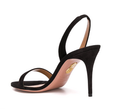 Load image into Gallery viewer, So Nude Suede Sandal 85mm - Black