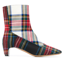 Load image into Gallery viewer, Tartan Ankle Bootie - Red Plaid