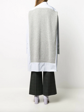 Load image into Gallery viewer, Oversized Sweater Shirt Dress - Ecru/Sky