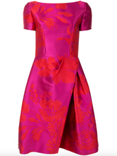 Load image into Gallery viewer, Floral Jacquard Dress - Red/Pink