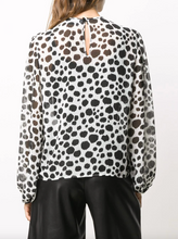 Load image into Gallery viewer, Animal Print Top - Black/White