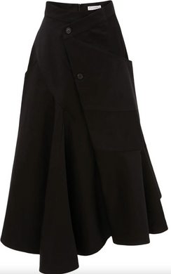 Wrap Effect Skirt - Black