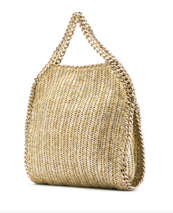 Falabella Mini Metallic Tote - Gold