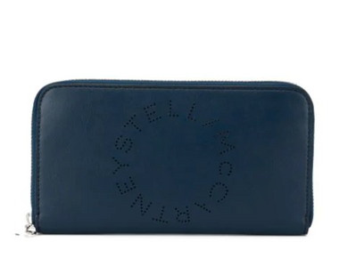Logo Zip Wallet - Denim Blue