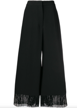 Load image into Gallery viewer, Fringe Wide Leg Trousers - Black