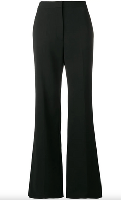 Tailored Flare Trousers - Black