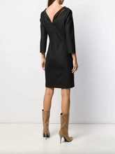 Load image into Gallery viewer, V-neck Cutout Dress - Black