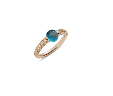 M'Ama Non M'Ama Ring - Blue Topaz/Brown Diamond