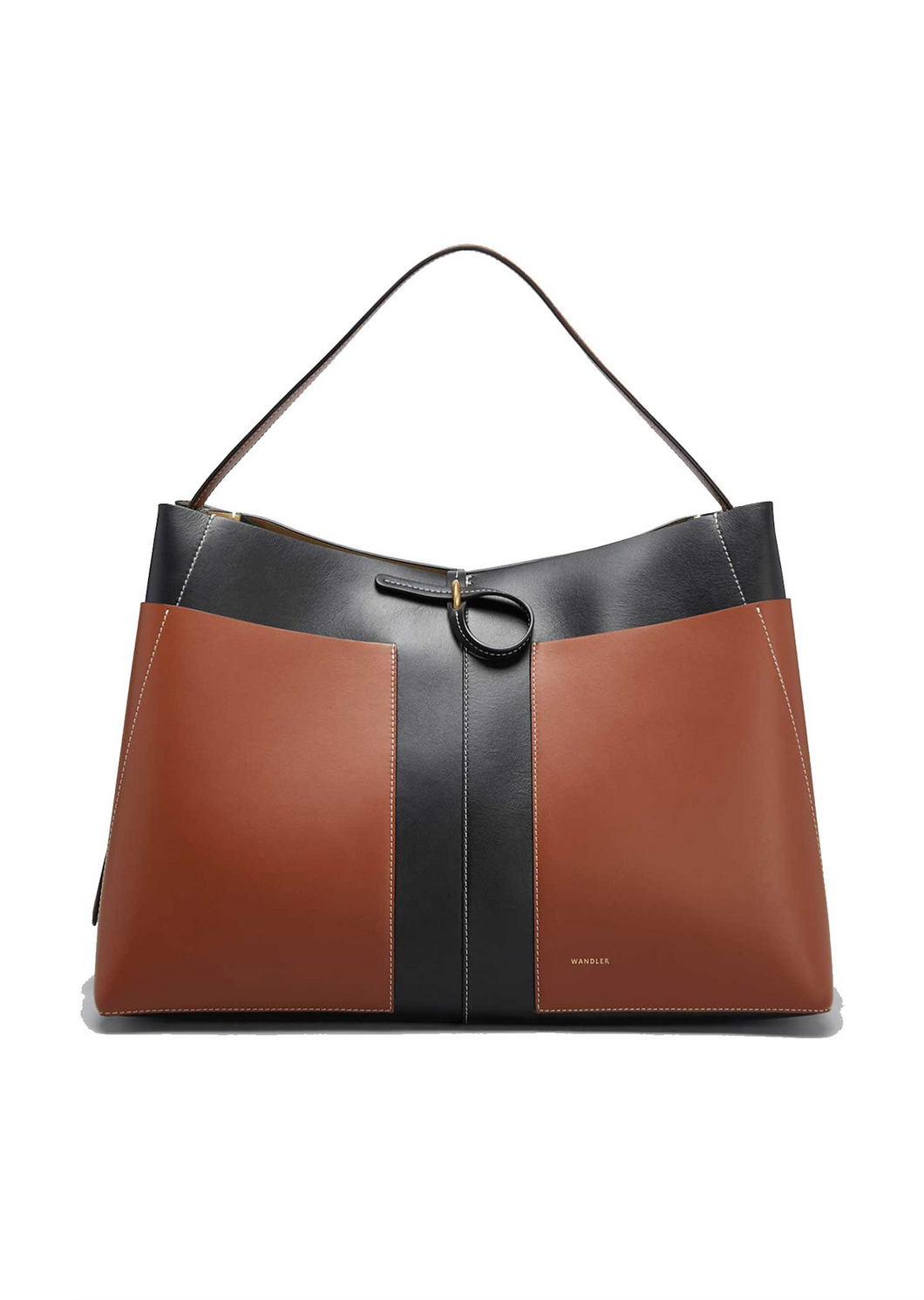 Ava Big Tote - Black/Tan