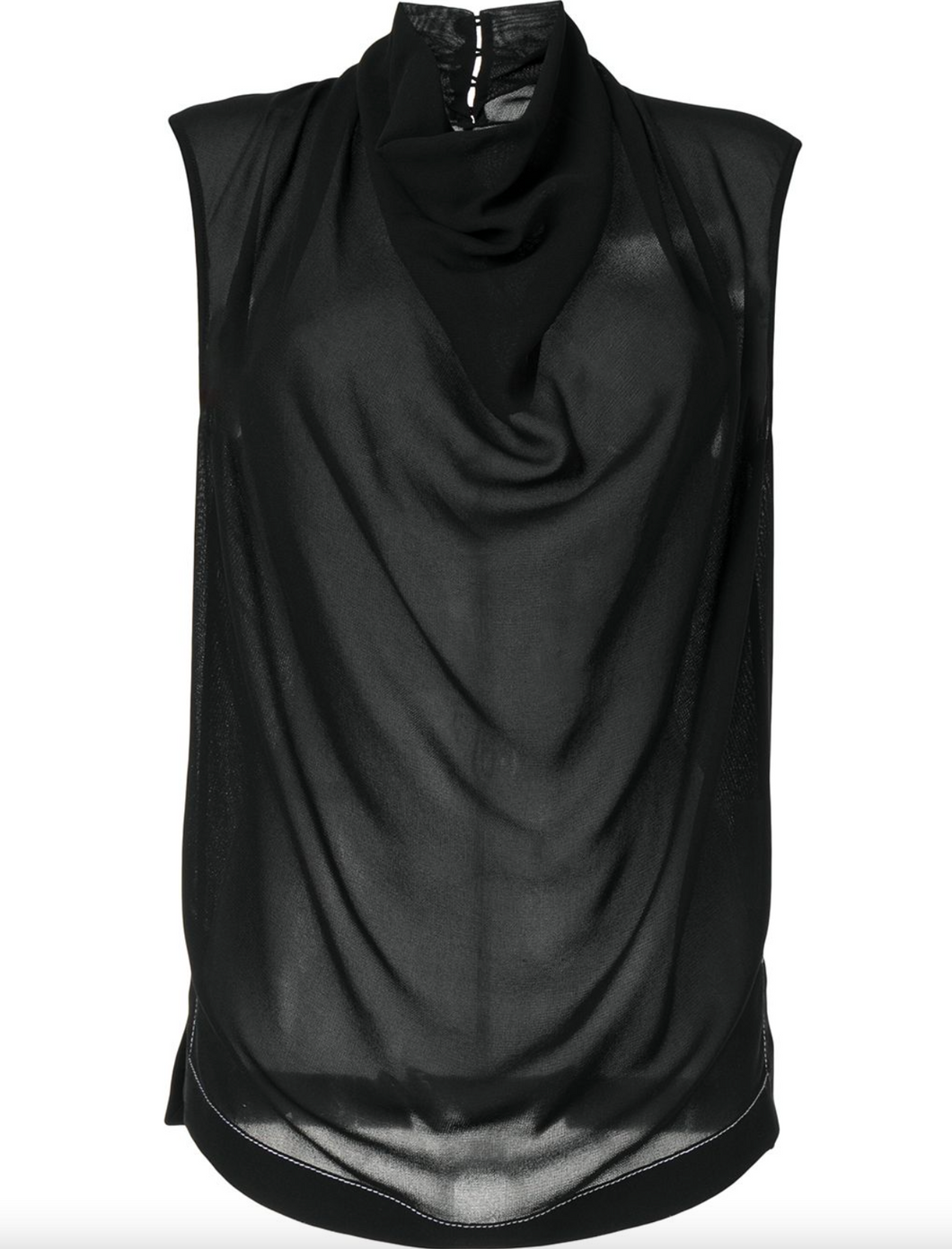 Cowl Neck Sleeveless Top - More Colors Available
