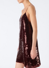Load image into Gallery viewer, Sequined Slip Dress - Burgundy