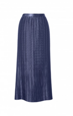 Pleated Plisse Skirt - Navy