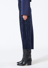 Load image into Gallery viewer, Pleated Plisse Skirt - Navy